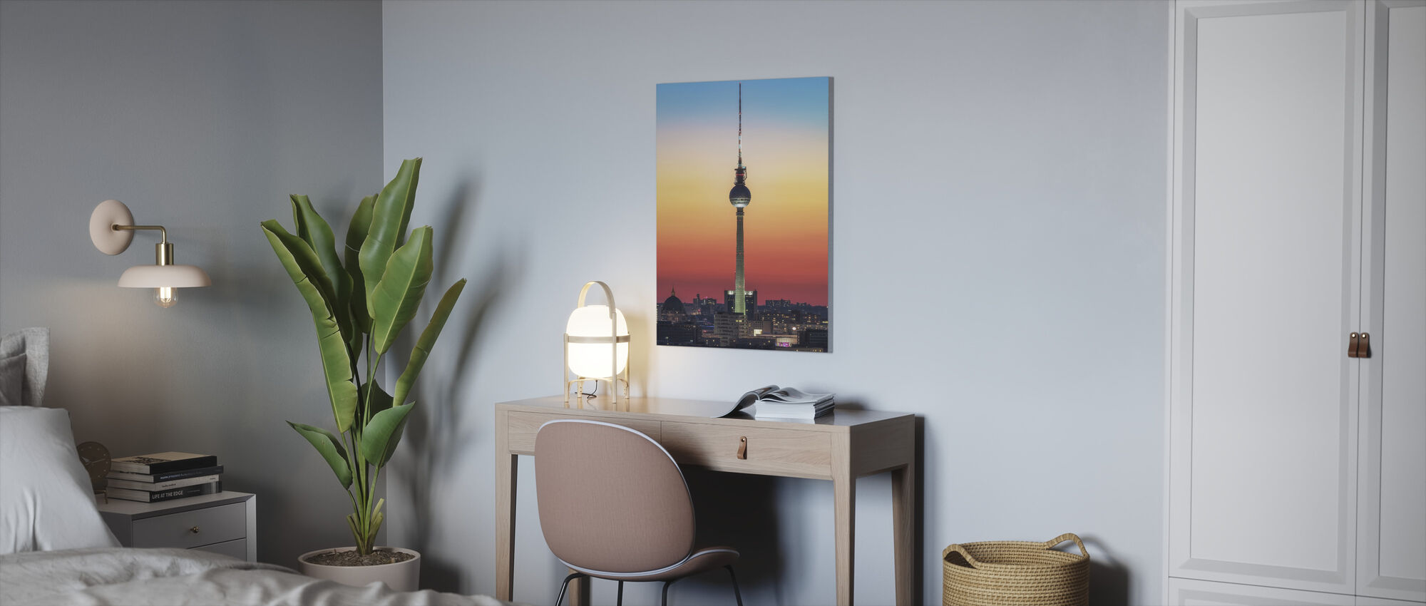 Berlin - Pastell Study - Canvas print - Office