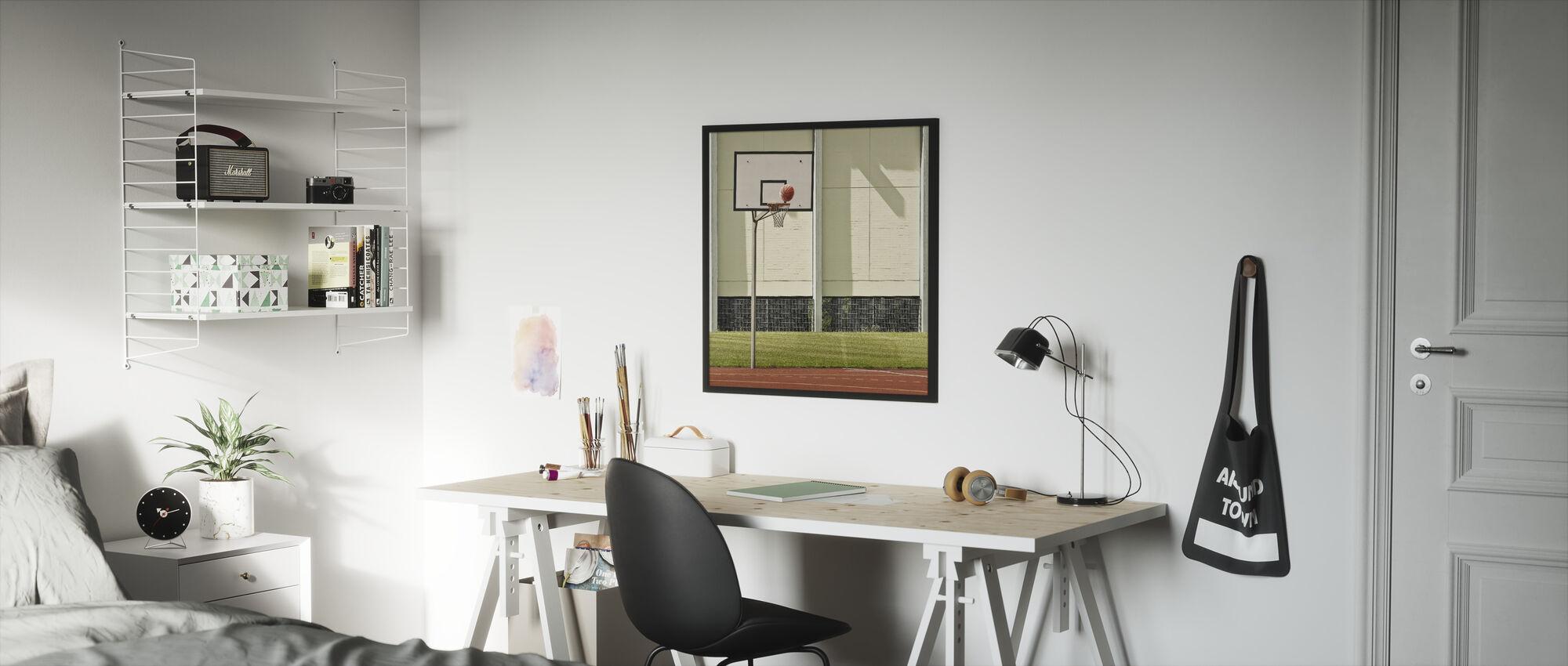 Doelpunt - Ingelijste print - Kinderkamer