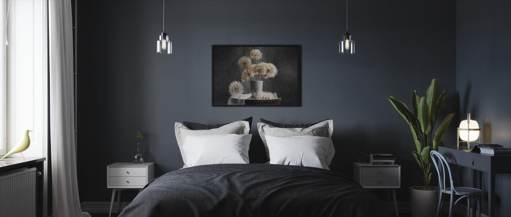 Paardebloem zaad Pod - Ingelijste print - Slaapkamer