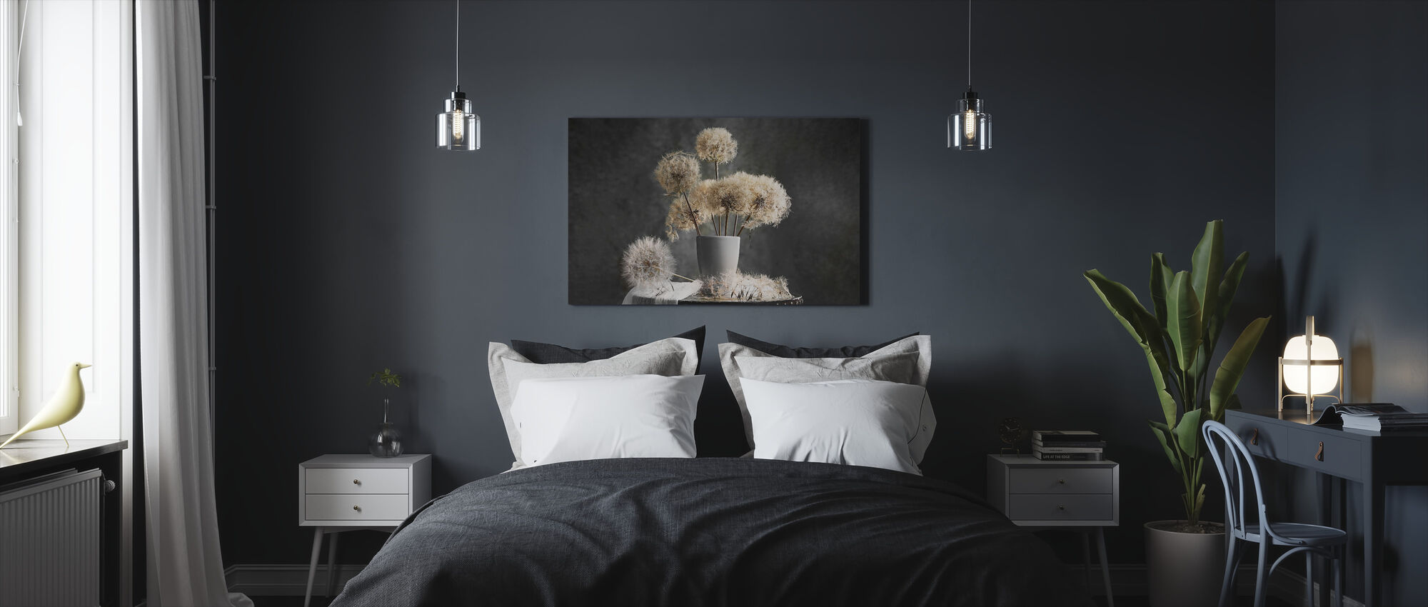 Dandelion Seed Pod - Canvas print - Bedroom