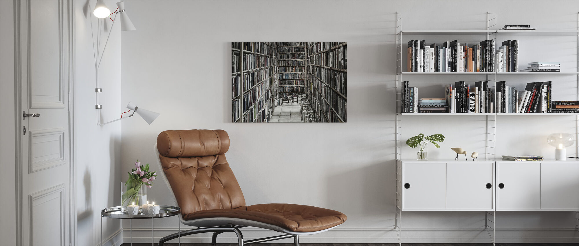 Reading Stuff - Canvas print - Living Room