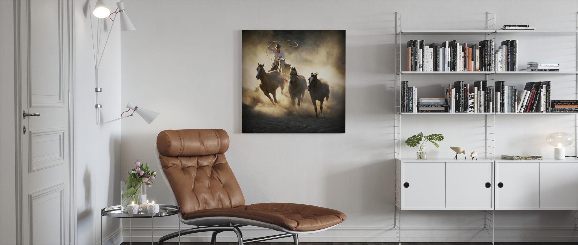 Roundup - Canvas print - Living Room
