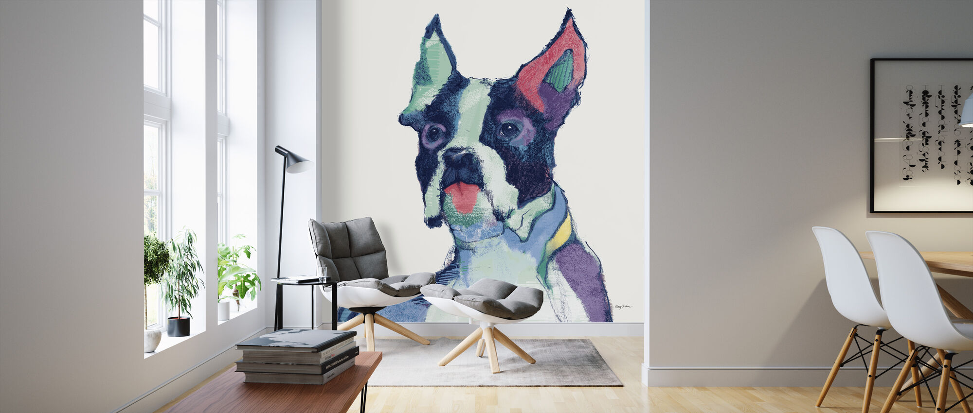 Ulysses Akvarel Pastel - Tapet - Stue