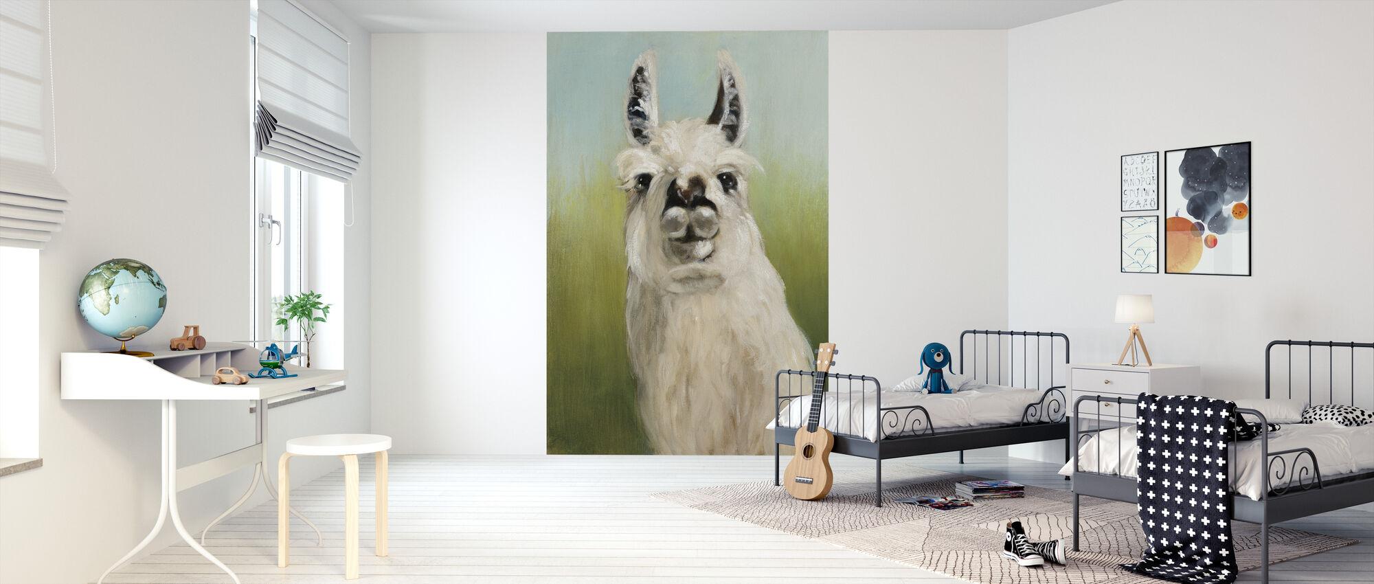 Whos Your Llama - Wallpaper - Kids Room