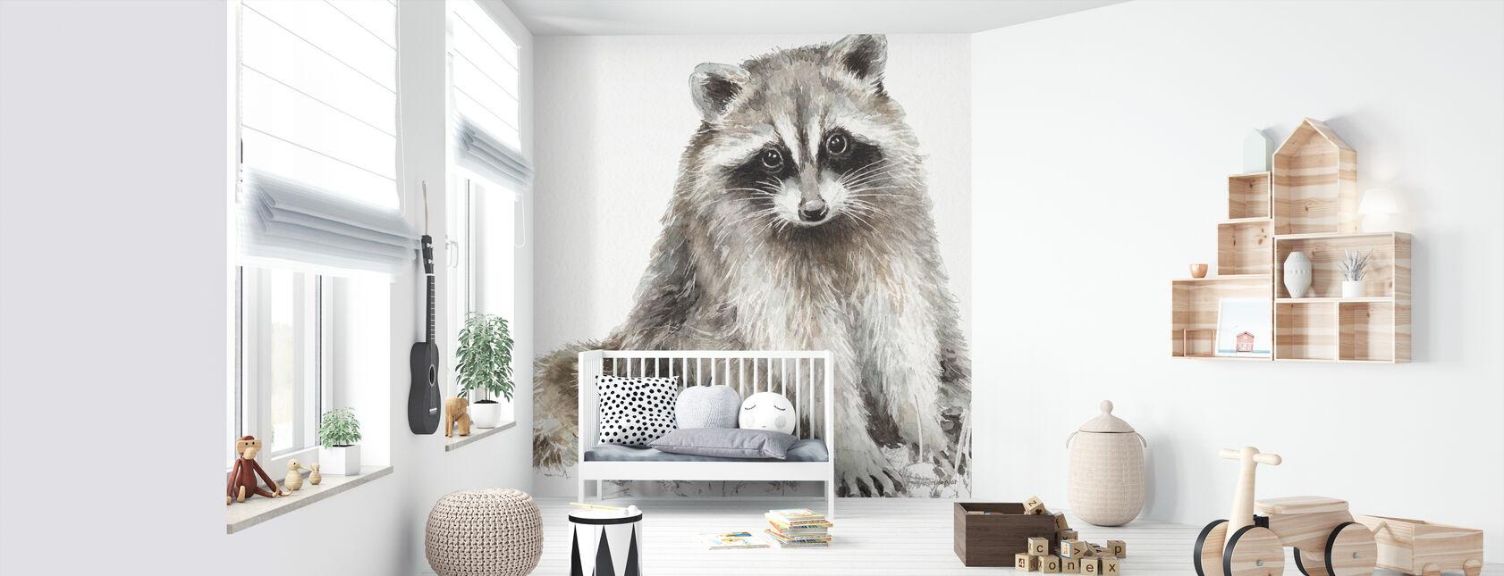 Metsä ystävät IIIII - Tapetti - Vauvan huone
