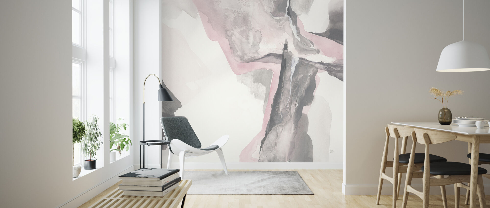 Blushing Gray - Wallpaper - Living Room