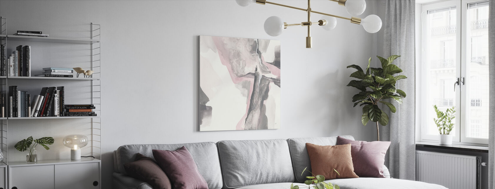 Blushing Gray - Canvas print - Living Room