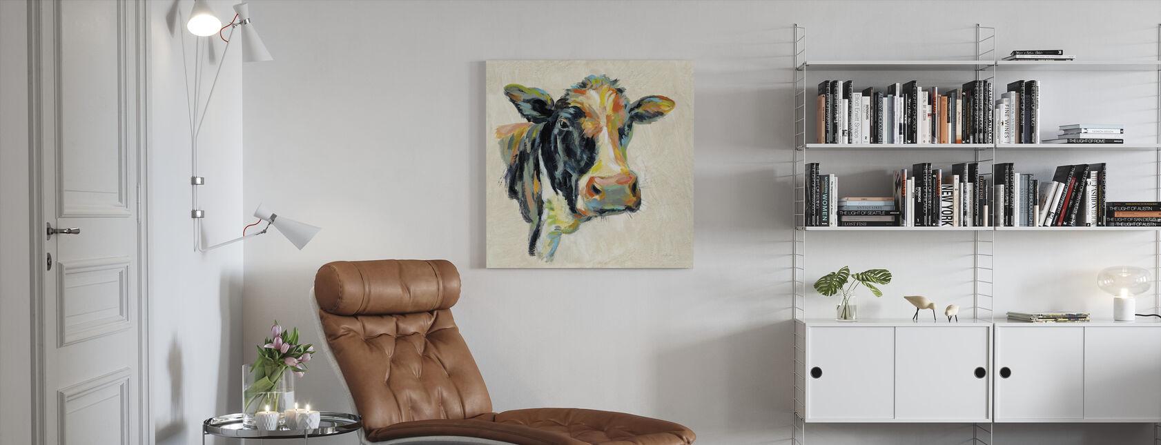 Expressionistic Cow I - Canvas print - Living Room