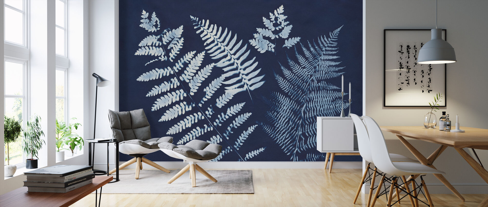 Nature by the Lake - Ferns II - Wallpaper - Living Room