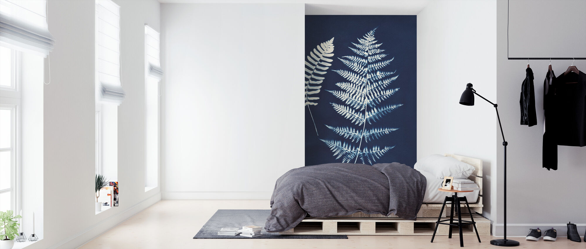 Nature by the Lake - Ferns V - Wallpaper - Bedroom