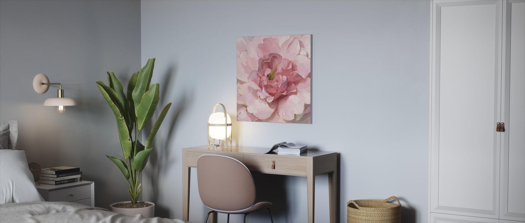 Blushing Peony - Canvas print - Office