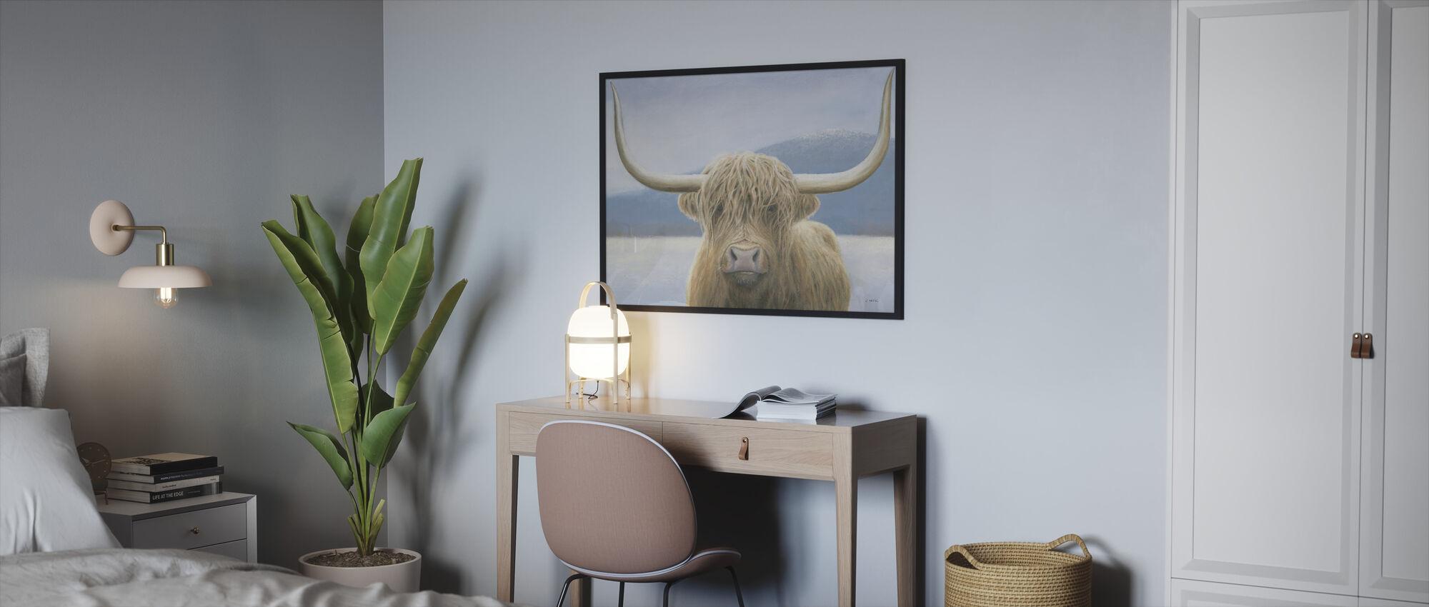 Highland Cow - Framed print - Bedroom