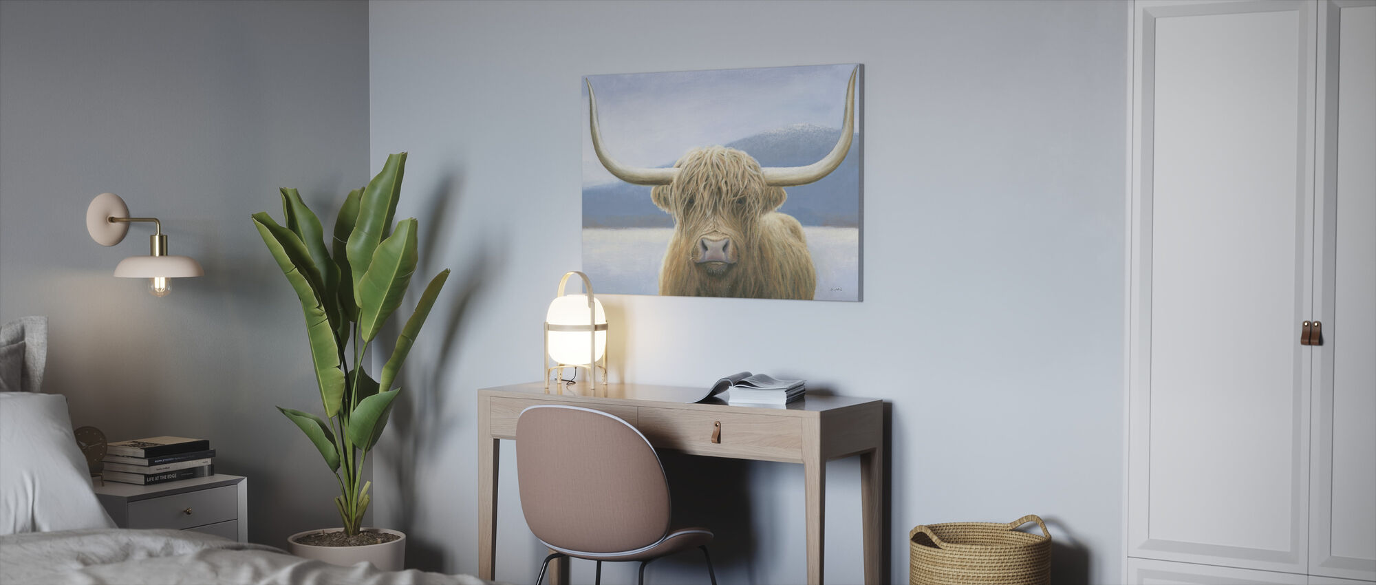 Highland Cow - Canvas print - Office