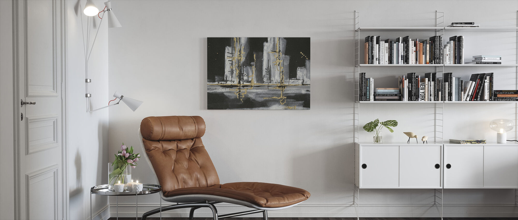 Urban Gold - Canvas print - Living Room