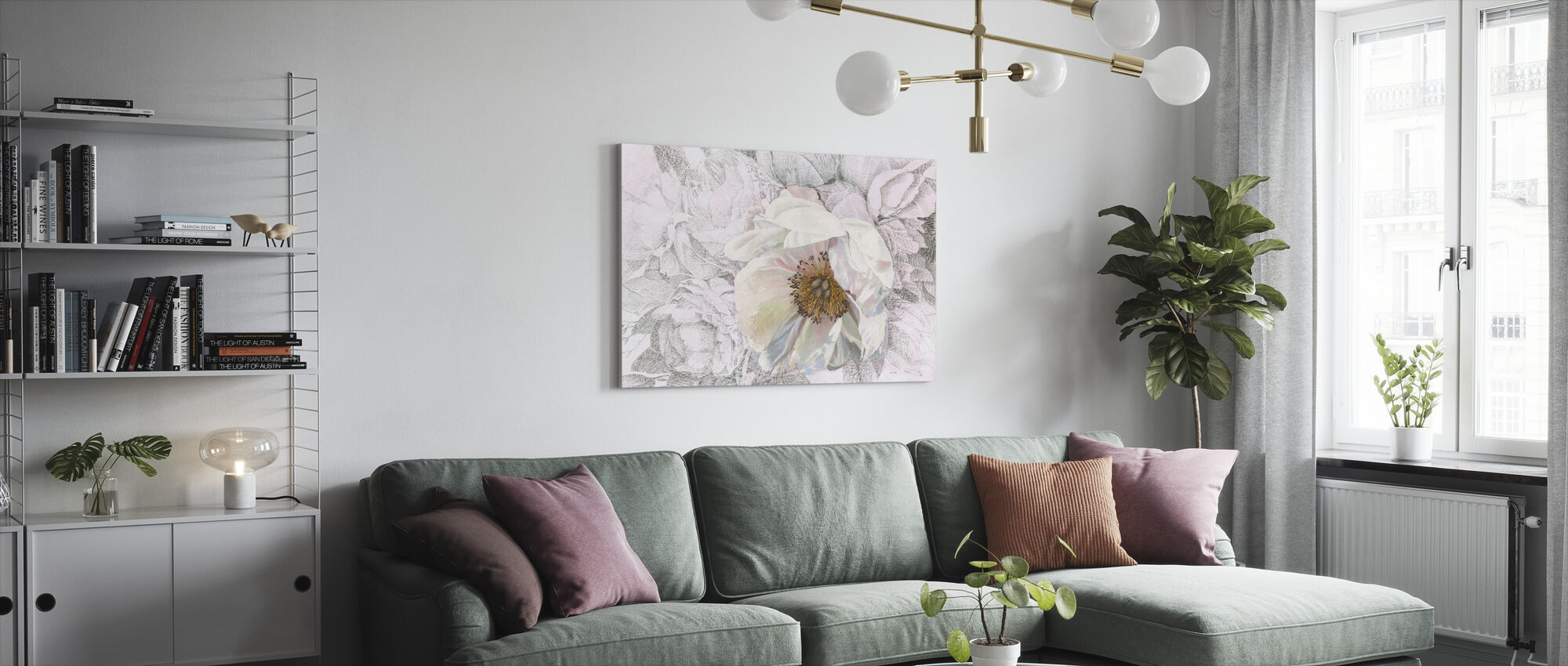Blooming Sketch - Canvas print - Living Room