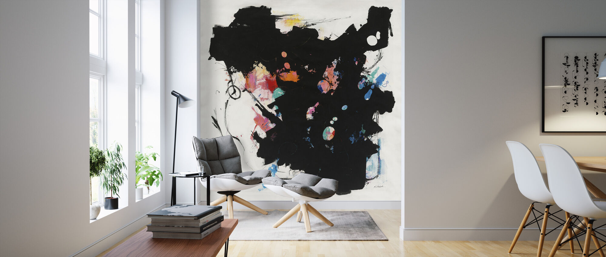 Abstract Redacted - Wallpaper - Living Room