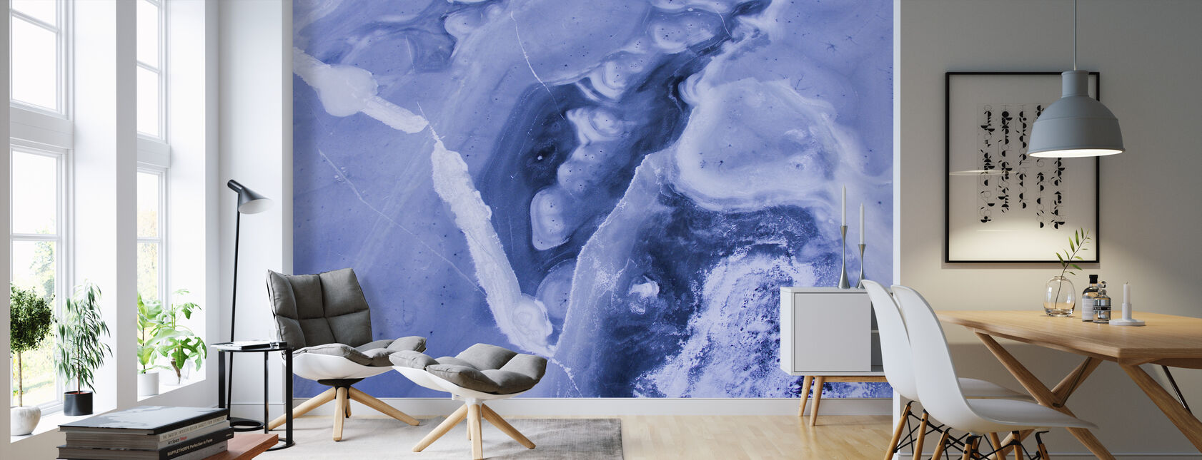 Frozen Lakes - Wallpaper - Living Room
