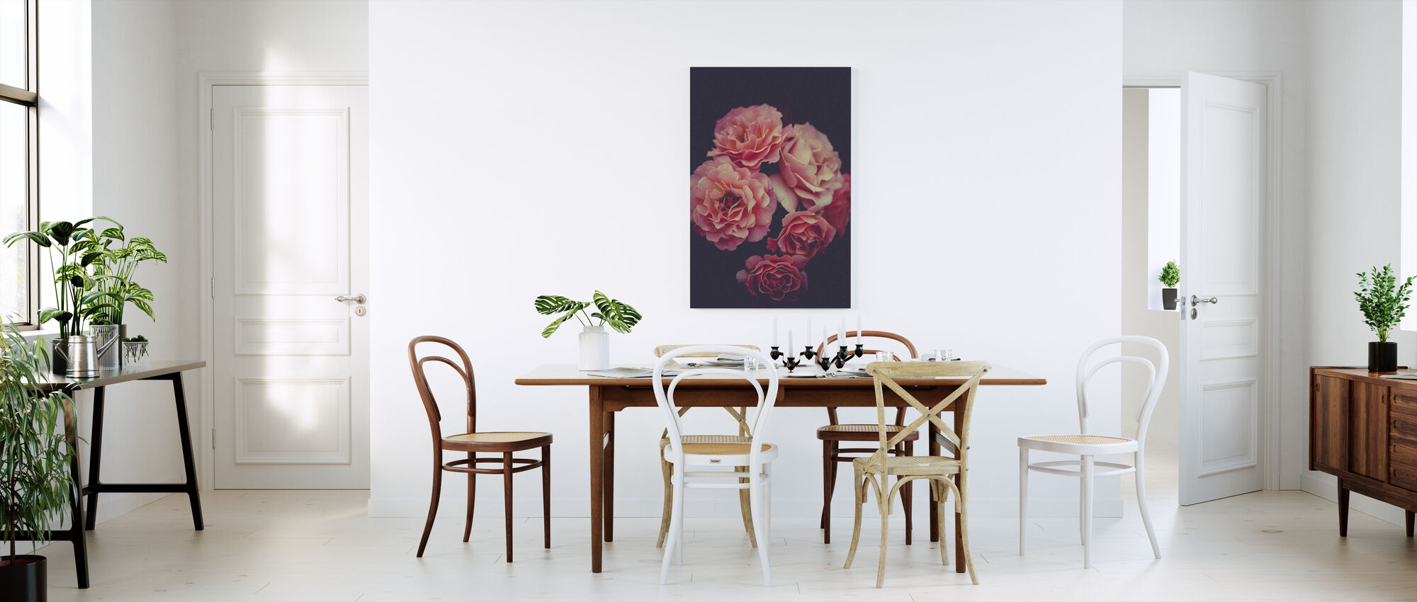 Rose Bouquet - Canvas print - Kitchen