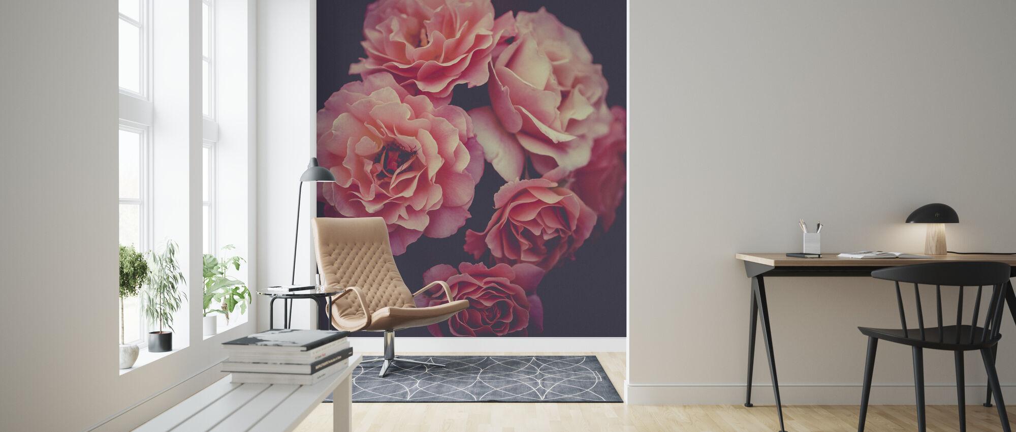 Rose bukett - Tapet - Stue