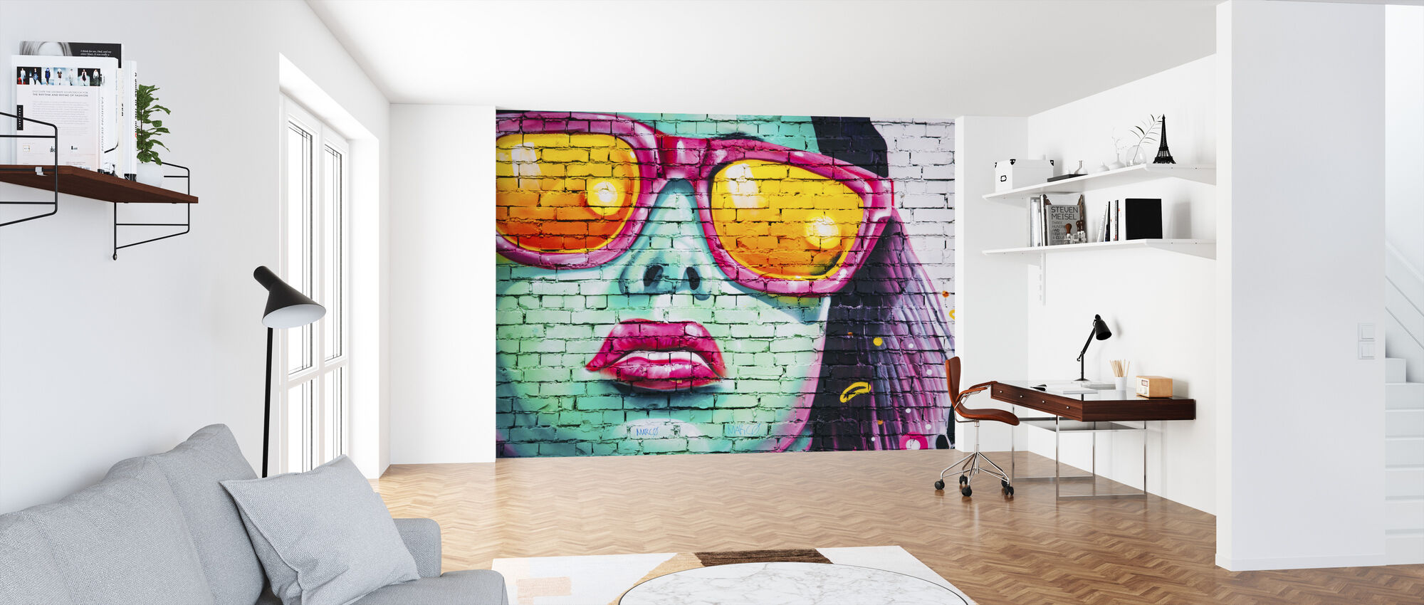 Mural of Woman's Face - Wallpaper - Office