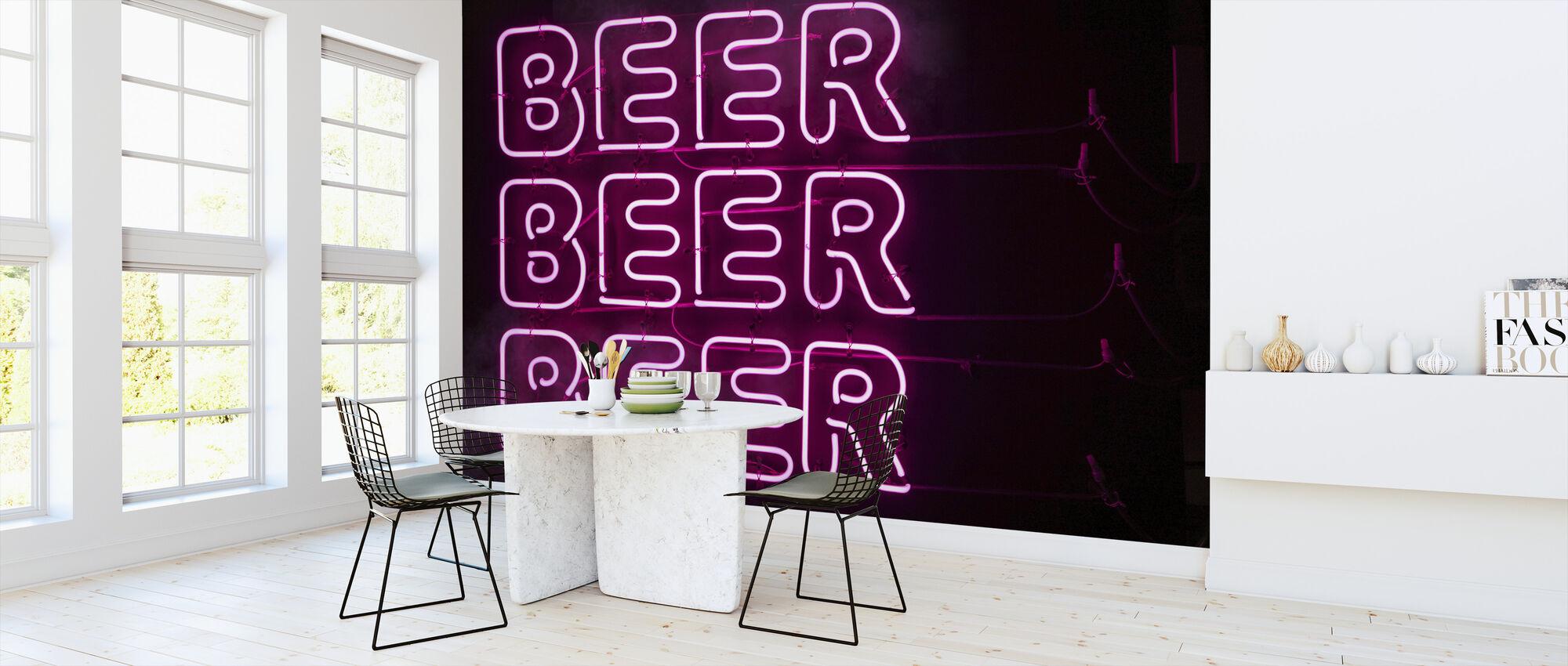 Bier Bier Bier - Behang - Keuken