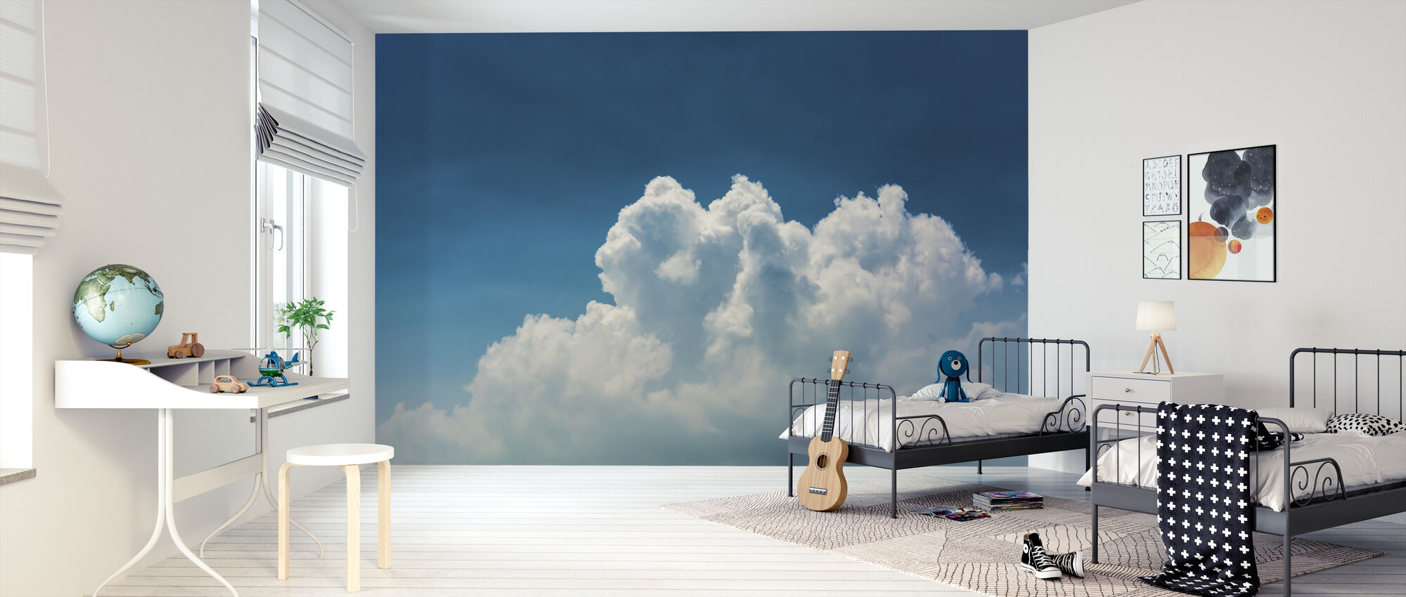 Blue Sky and Clouds - Wallpaper - Kids Room