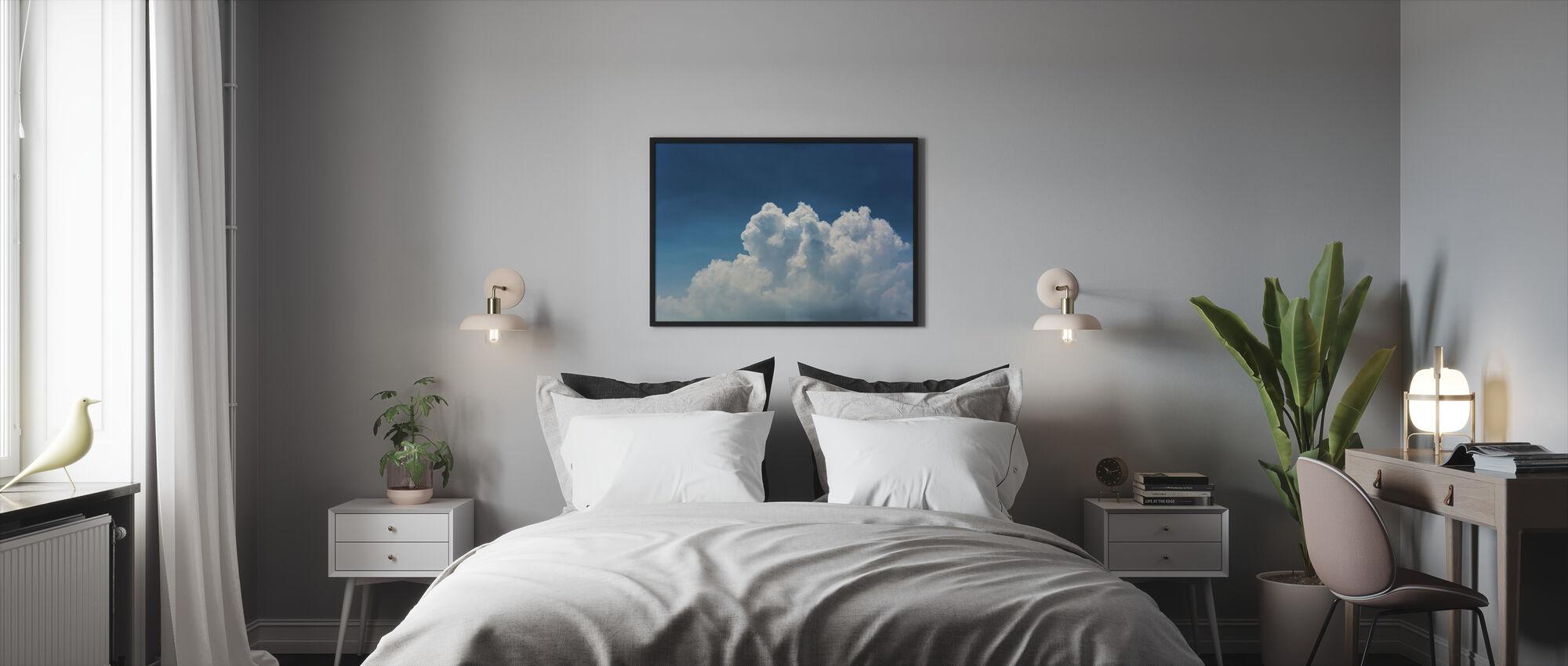 Blue Sky and Clouds - Framed print - Bedroom