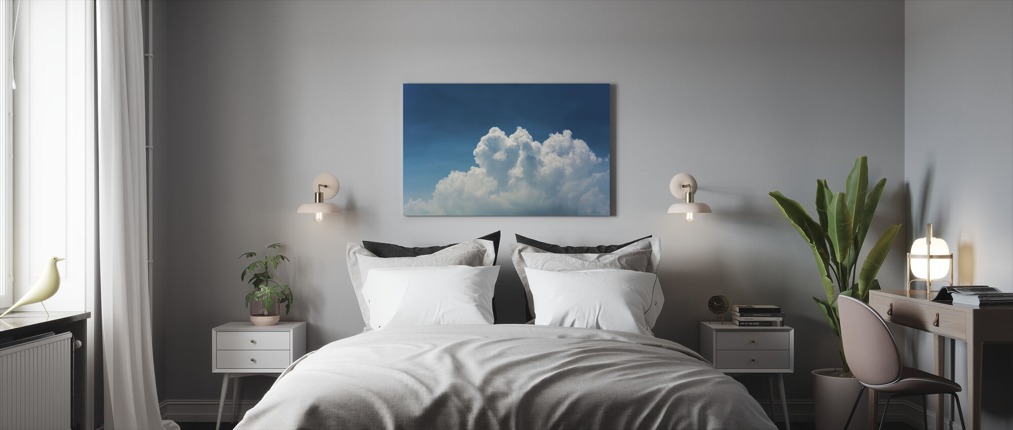 Blue Sky and Clouds - Canvas print - Bedroom