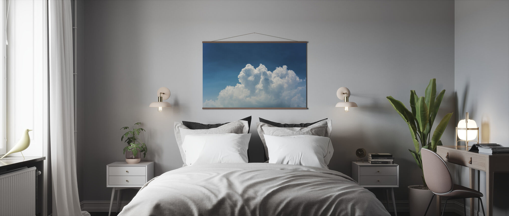 Blue Sky and Clouds - Poster - Bedroom