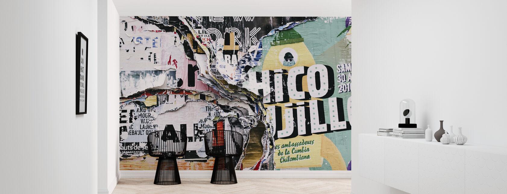 Kerroksellinen graffiti - Tapetti - Aula