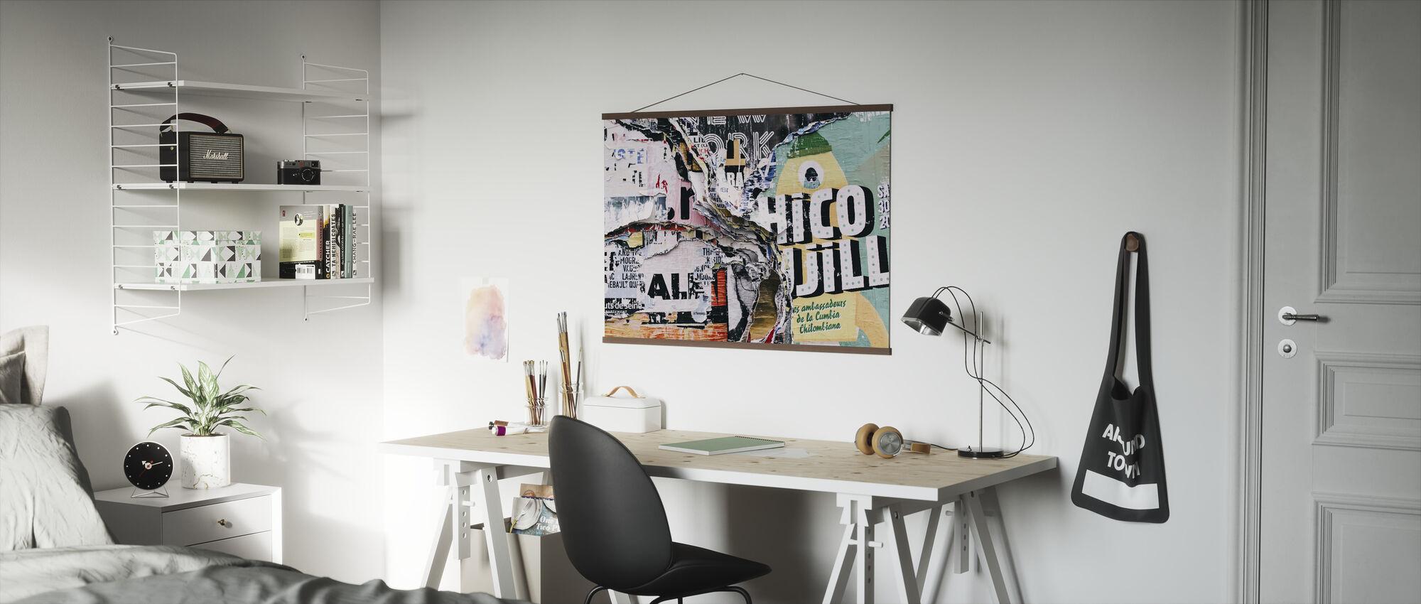 Layered Graffiti - Poster - Office