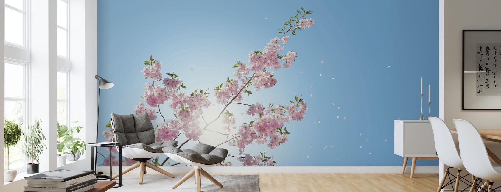 Falling Petals - Wallpaper - Living Room