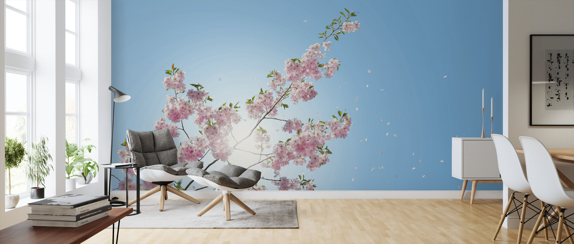 Falling Petals - Wallpaper - Living Room