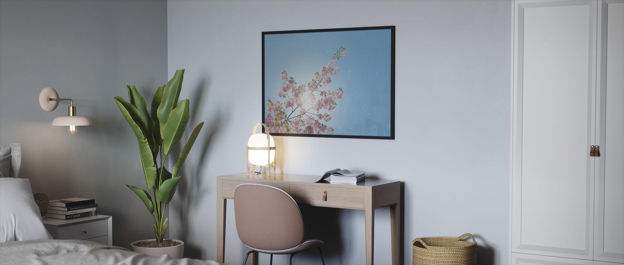 Falling Petals - Framed print - Bedroom