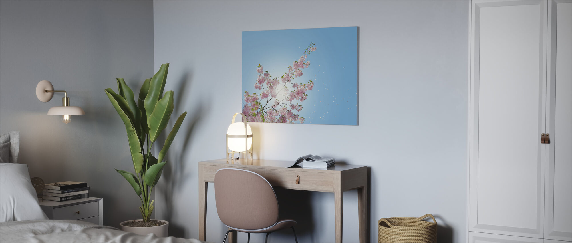 Falling Petals - Canvas print - Office