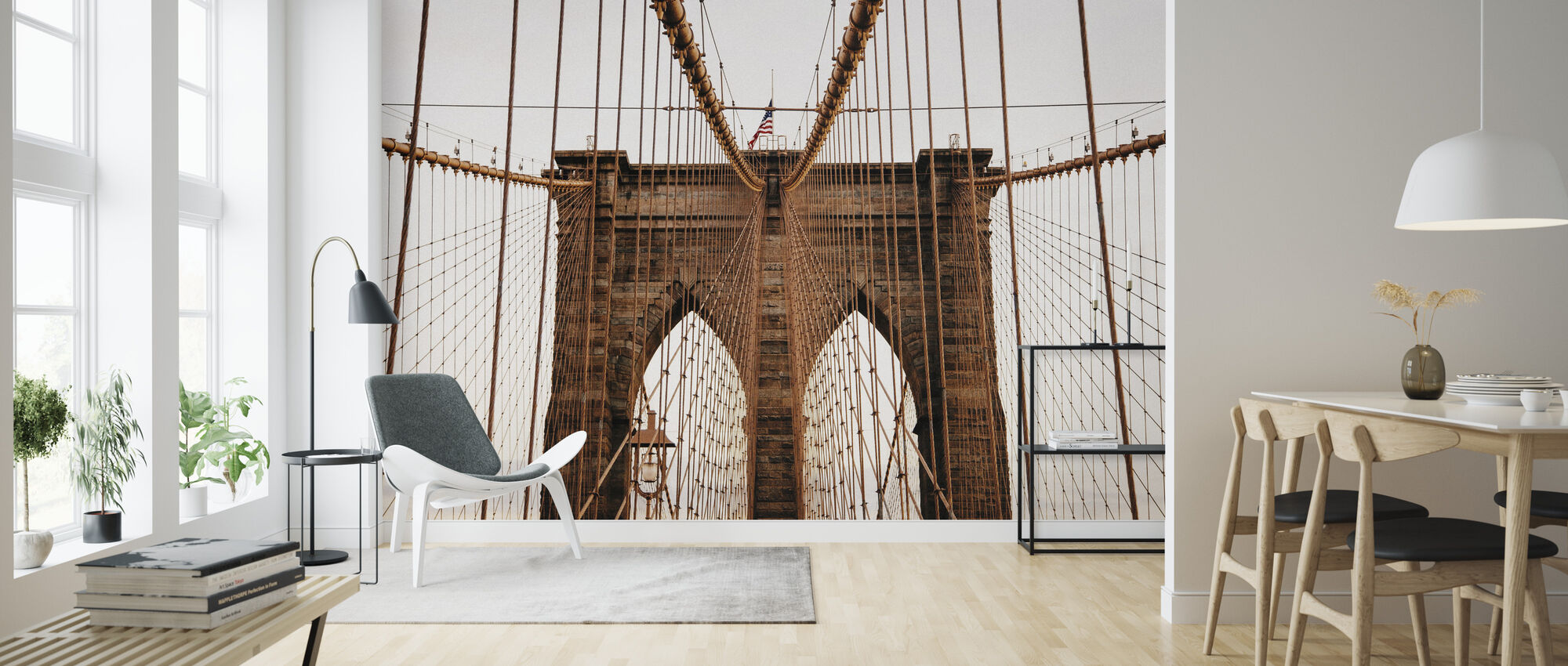 Beautiful Brooklyn Bridge - Wallpaper - Living Room