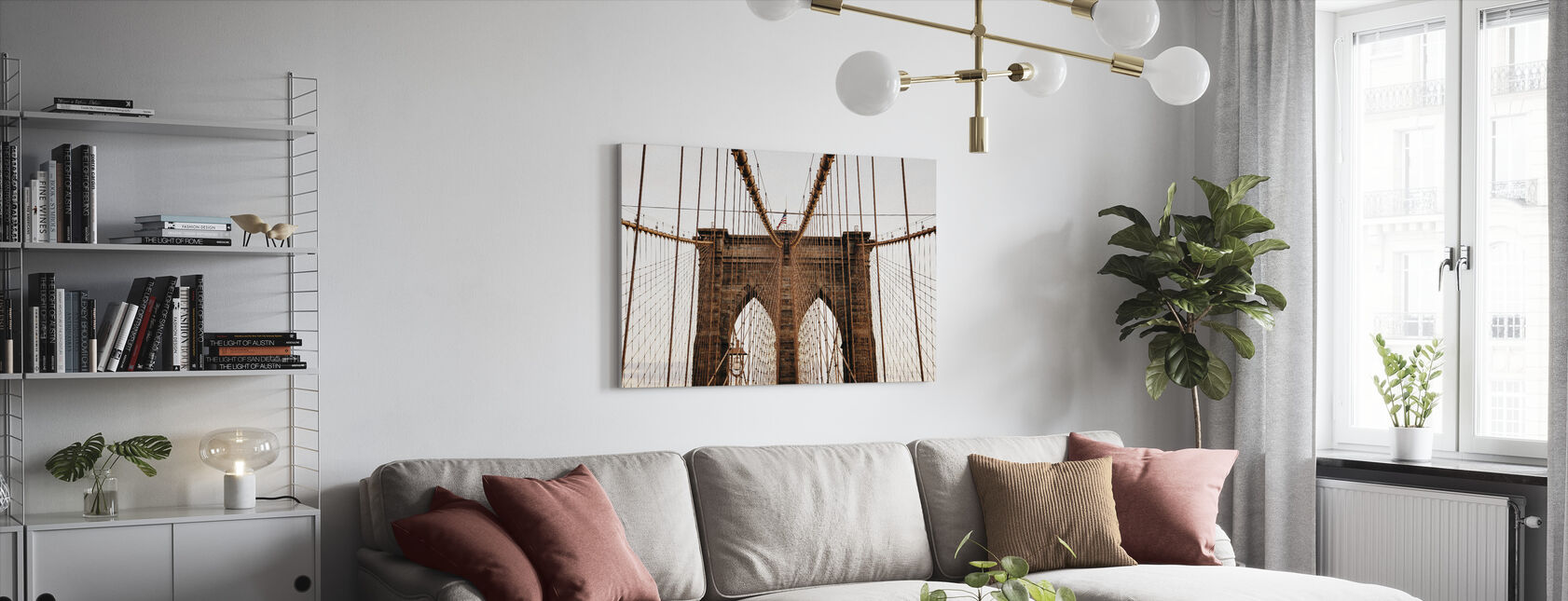 Beautiful Brooklyn Bridge - Canvas print - Living Room