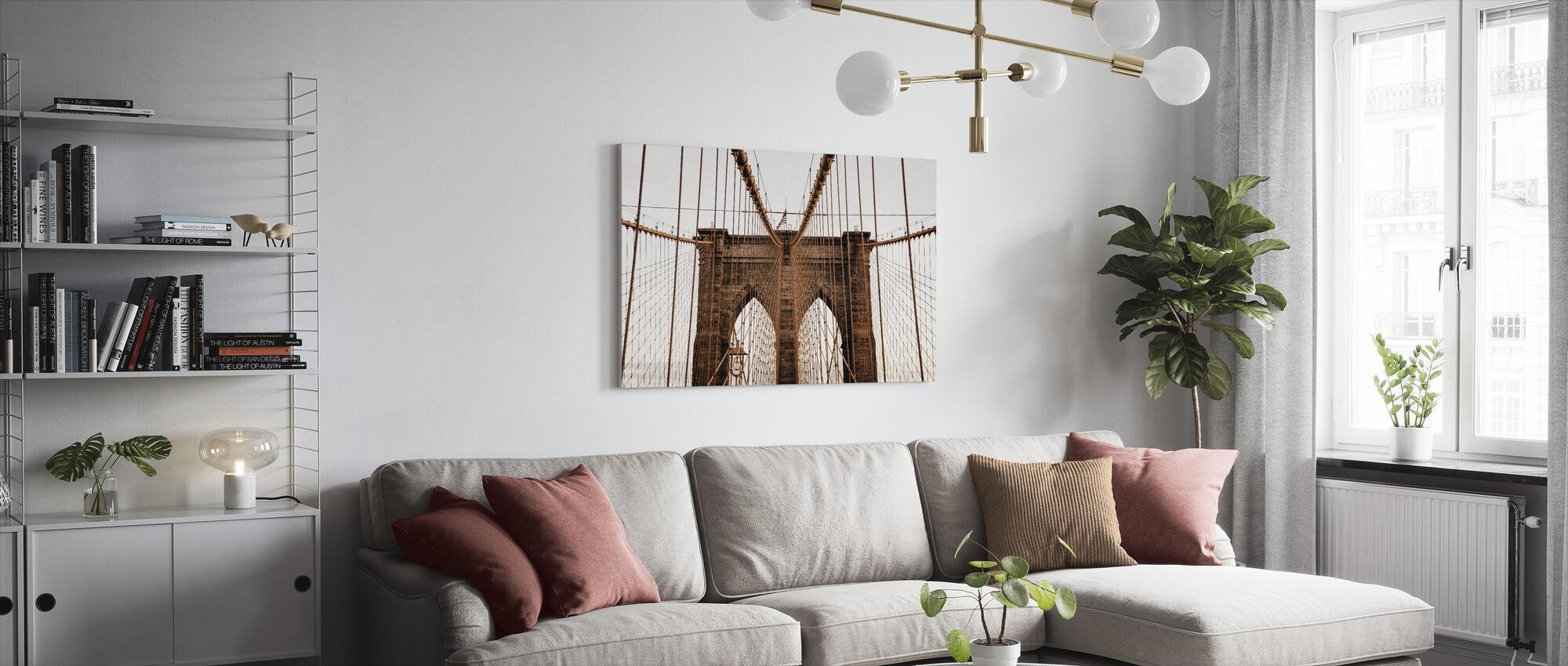 Schöne Brooklyn Bridge - Leinwandbild - Wohnzimmer