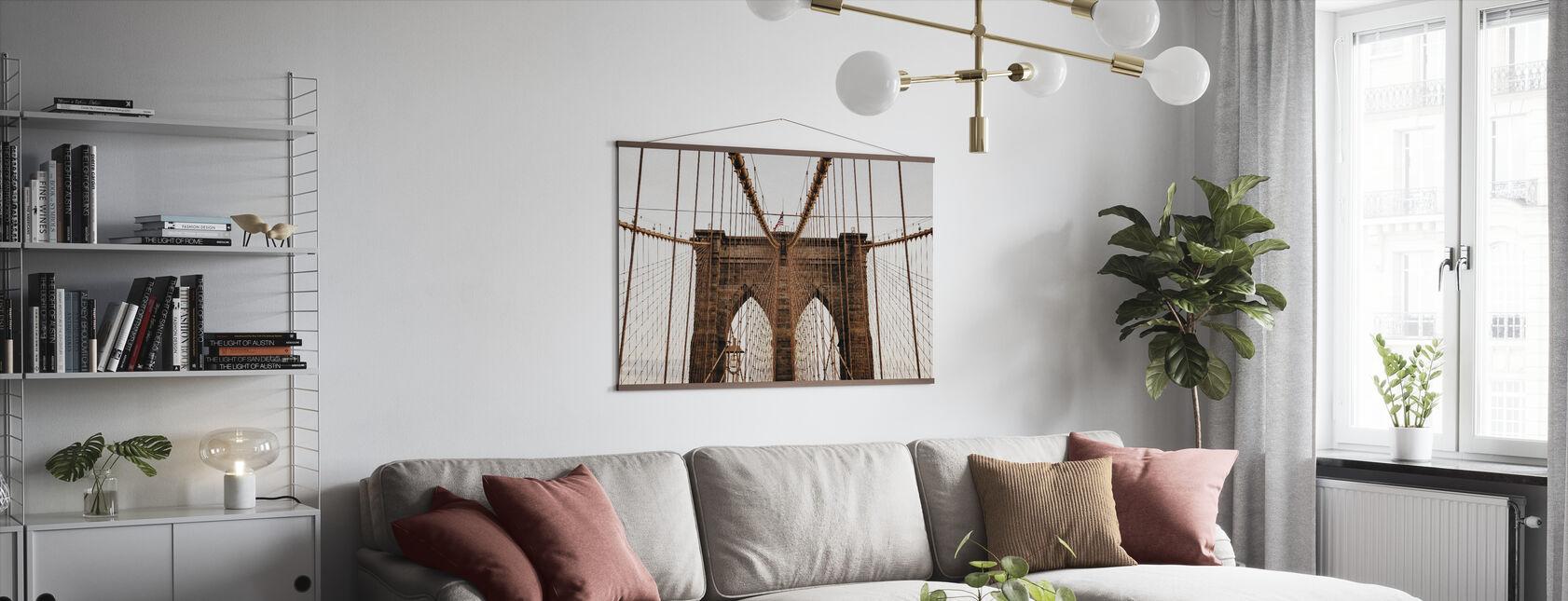 Schöne Brooklyn Bridge - Poster - Wohnzimmer