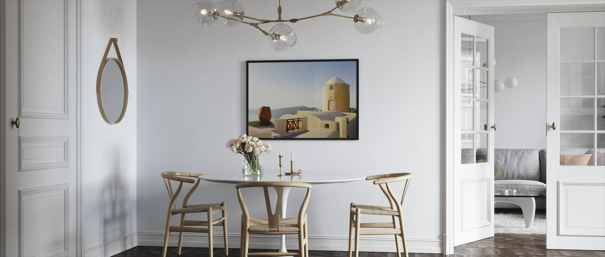 Santorini Building - Framed print - Kitchen