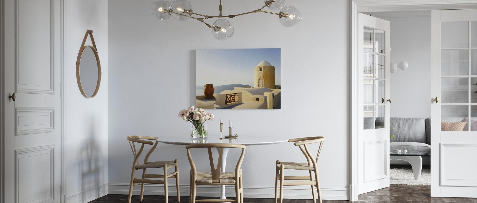 Santorini Building - Canvas print - Kitchen