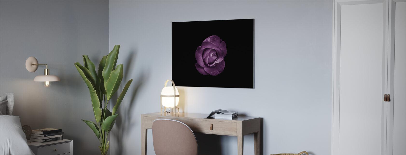 Bloem met Waterdruppels - Canvas print - Kantoor