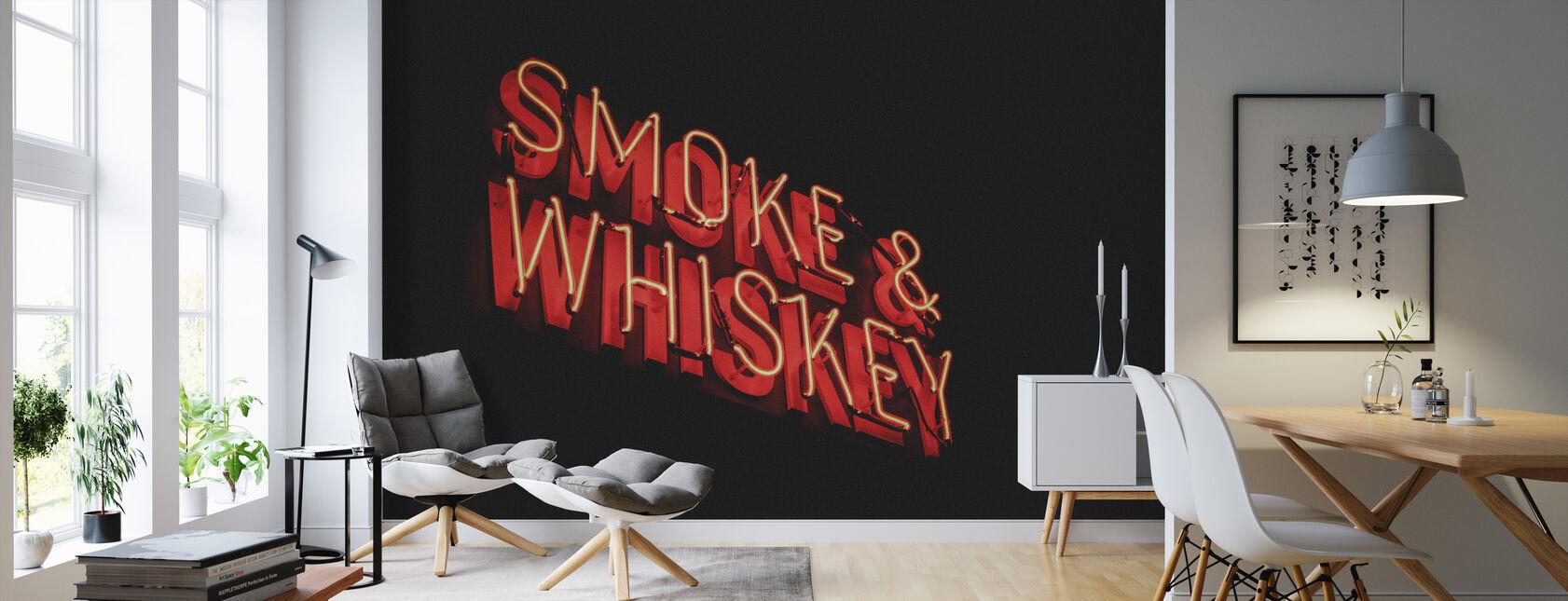 Rook en Whiskey - Behang - Woonkamer