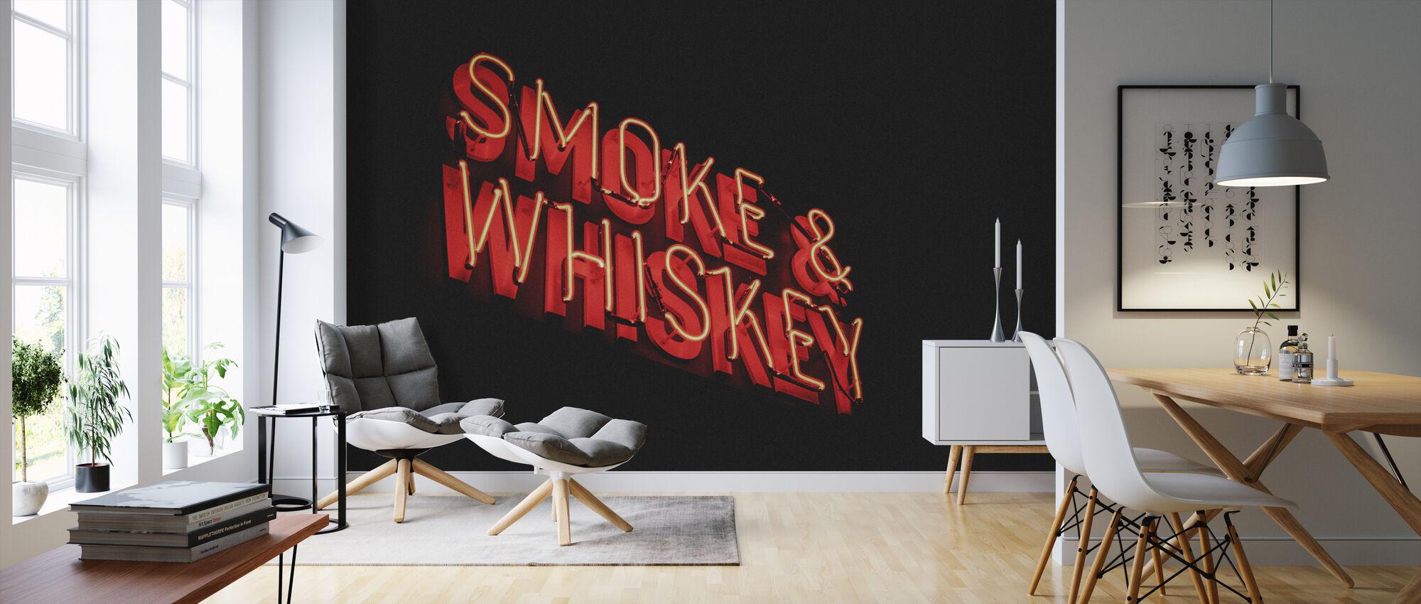 Røg og Whisky - Tapet - Stue