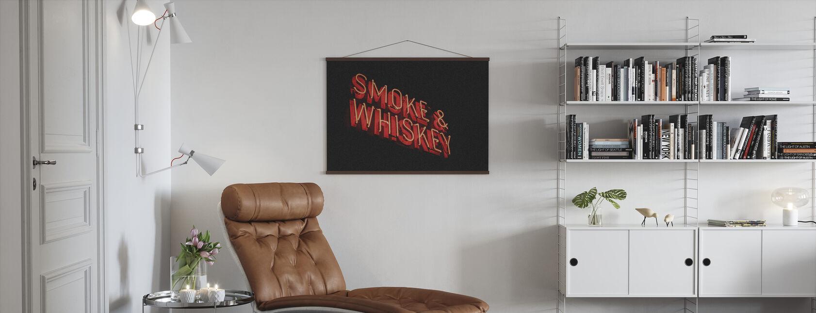 Smoke and Whiskey - Poster - Living Room