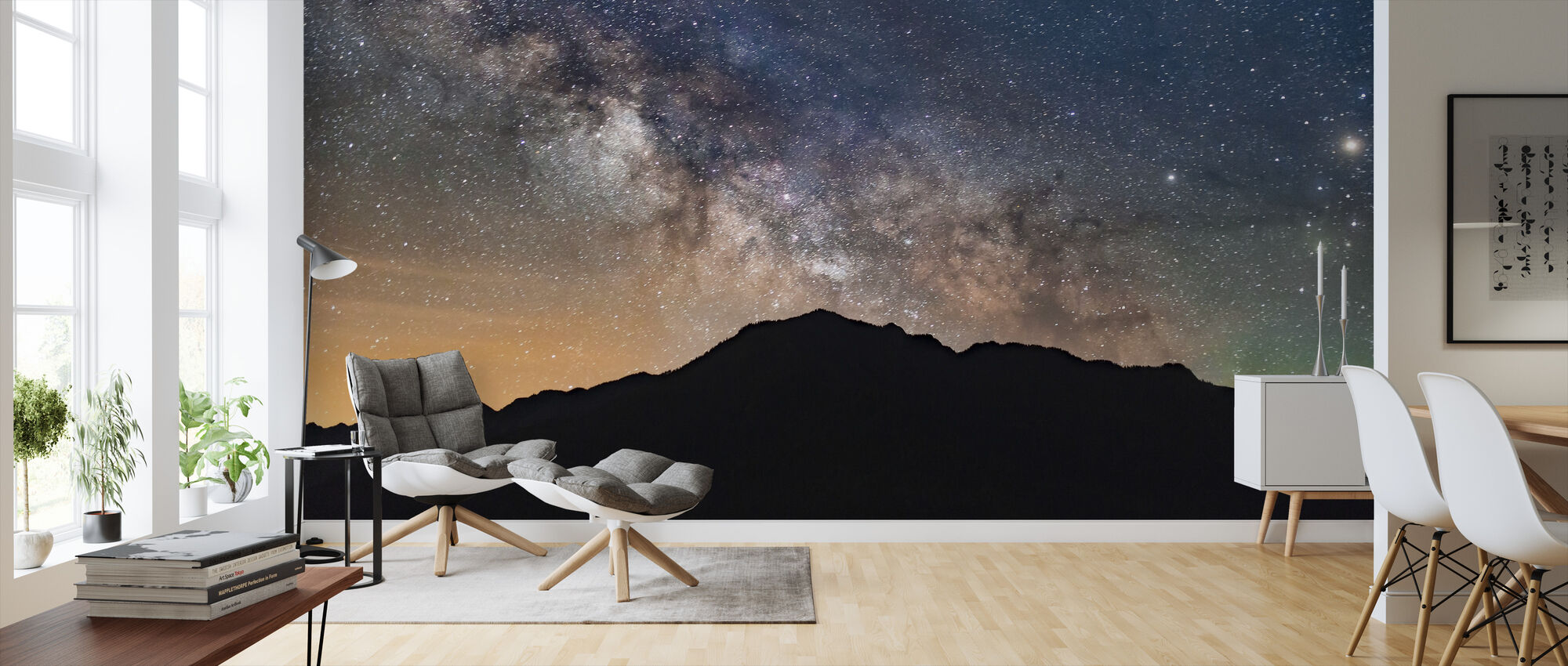 Milky Way View - Wallpaper - Living Room