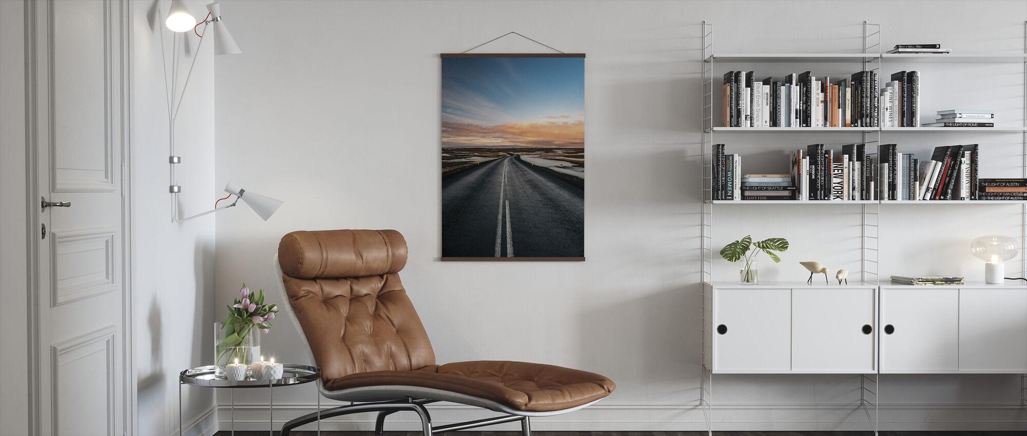 Veien til Dettifoss - Plakat - Stue