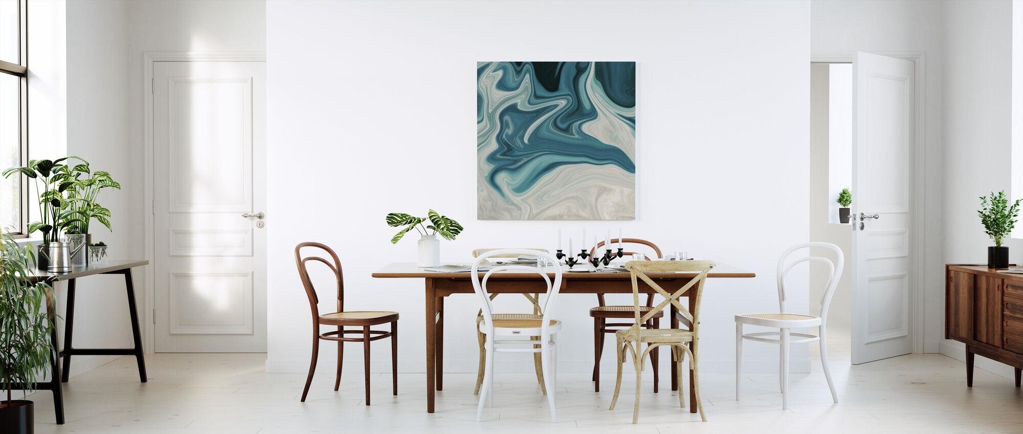 Sea of Marble - Canvas print - Kitchen