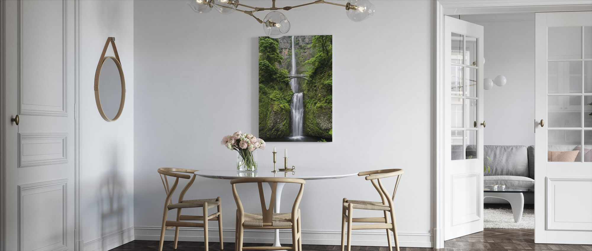 Bridge and Waterfall - Canvas print - Kitchen