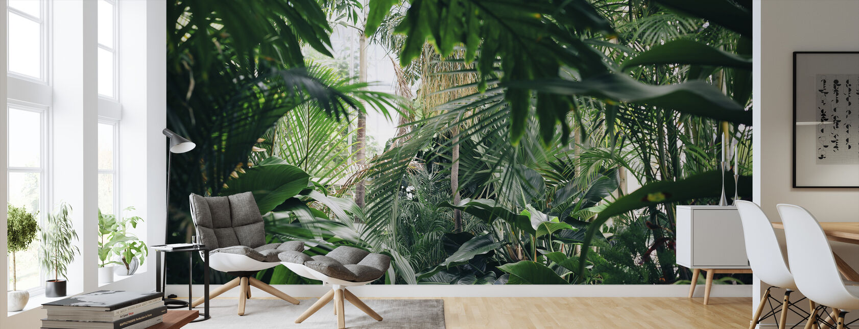 Jungle Planten - Behang - Woonkamer